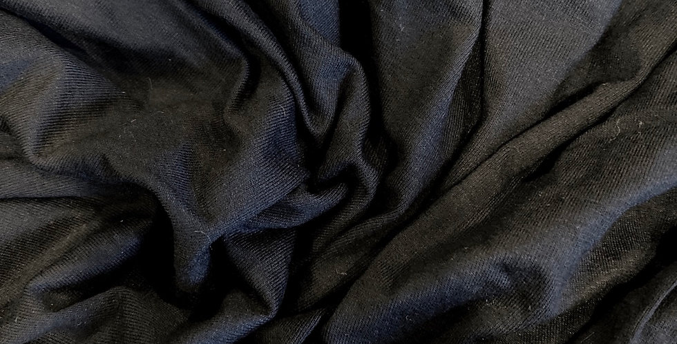 black poly jersey remnant