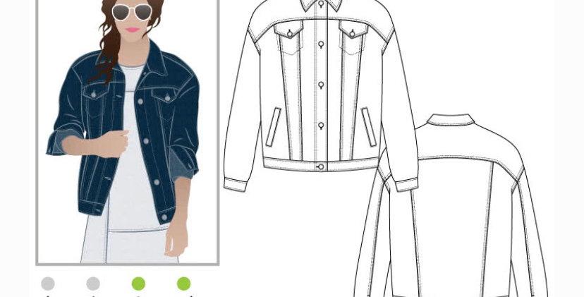Style arc Stevie jean jacket printed pattern