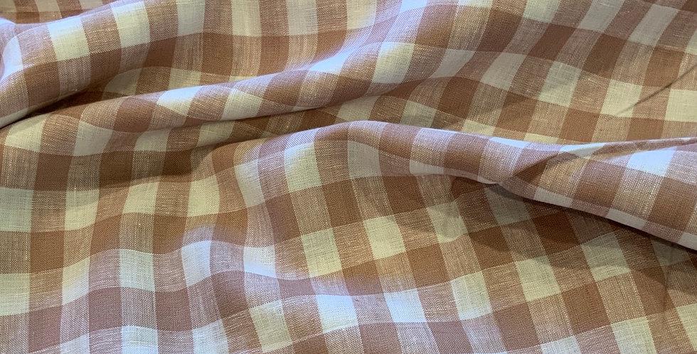 Colette Mushroom Gingham Linen
