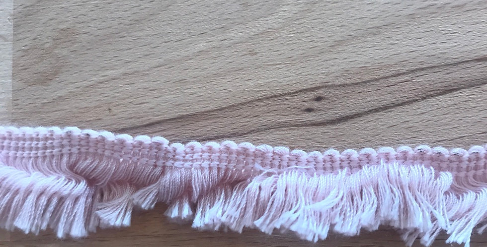 Dusty pink cotton fringe