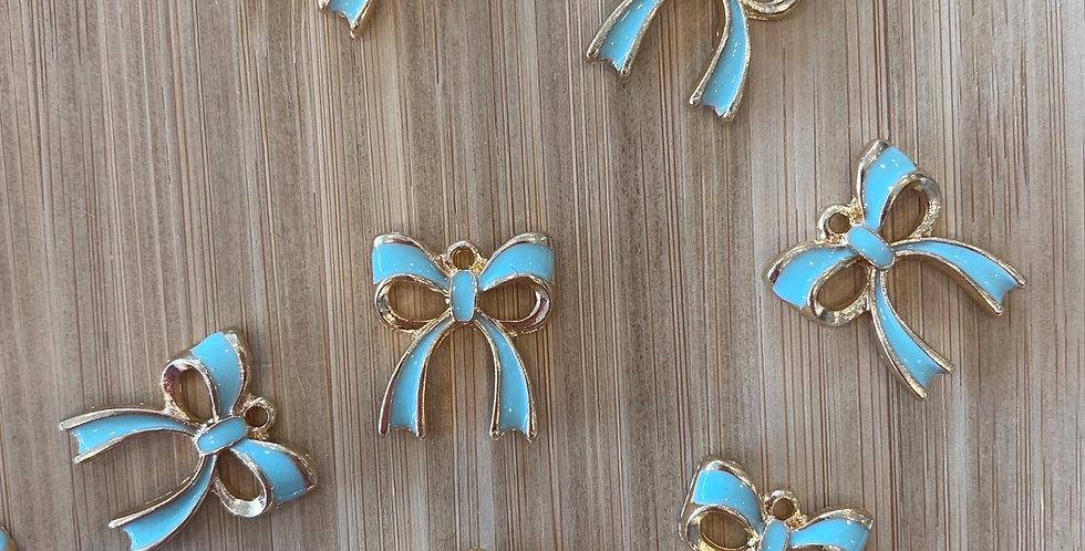 Bow charm Tiffany blue