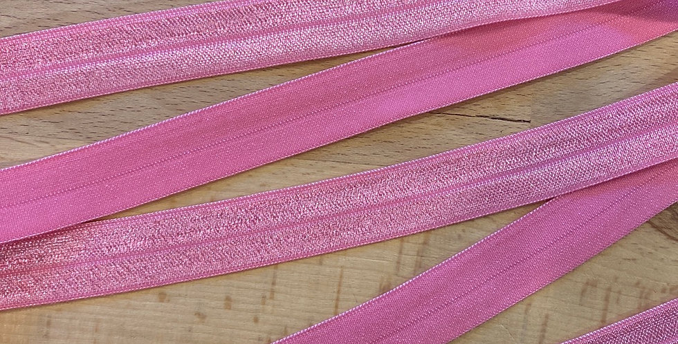 candy pink foldover elastic