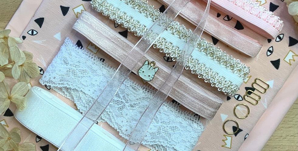 Princess Kitty French Cotton Spandex Lingerie Kit...