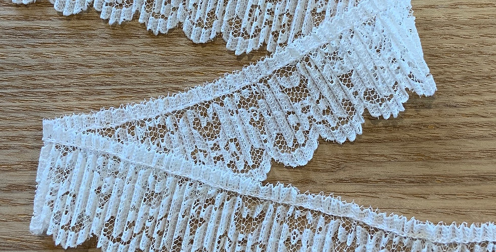 Molly Cream Pleated Lace Trim...