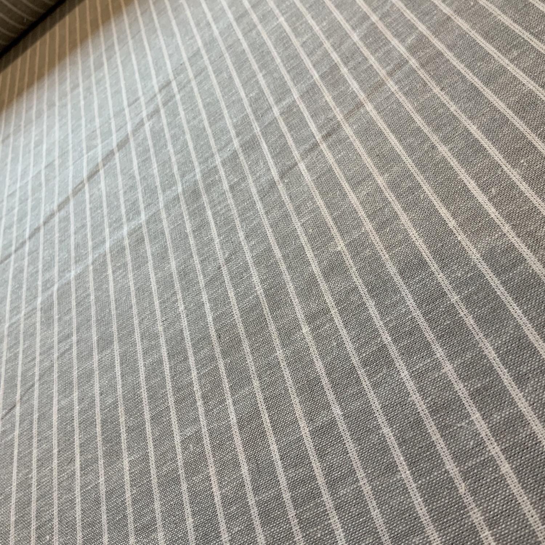 Thumbnail: Grey Mist stripe Yarn Dyed Linen Blend....