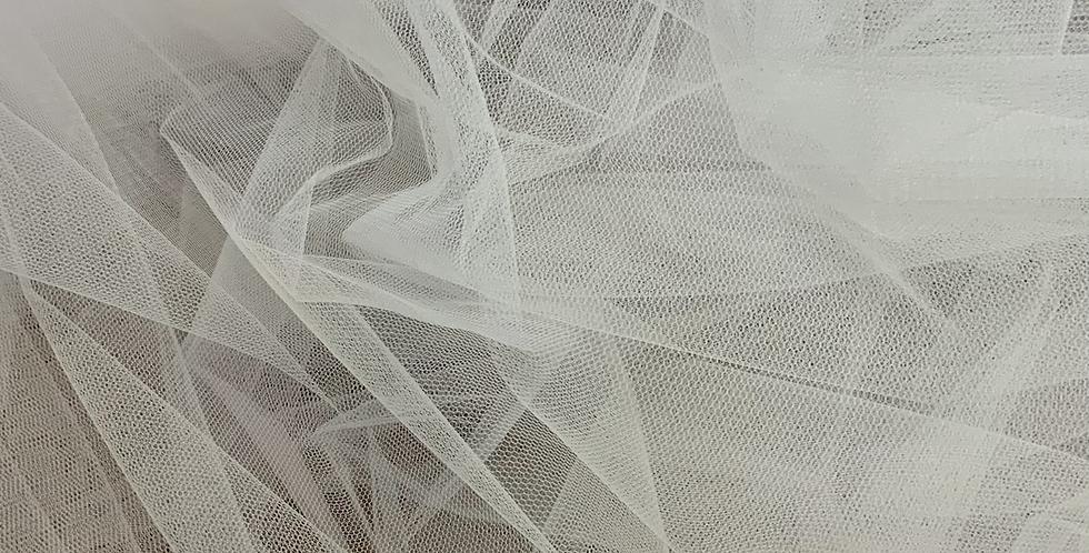 Silk White English Tulle..