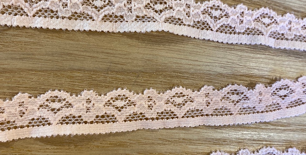 apricot stretch lace edging