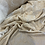 Thumbnail: Ethereal Gold Embroidered Crinkle Polyester Chiffon...