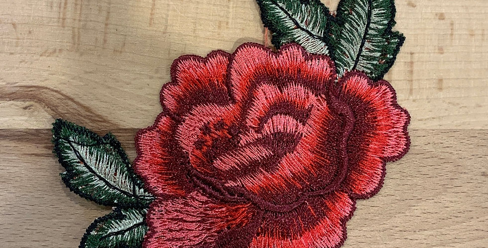 Embroidered Rose Sew On Motif…