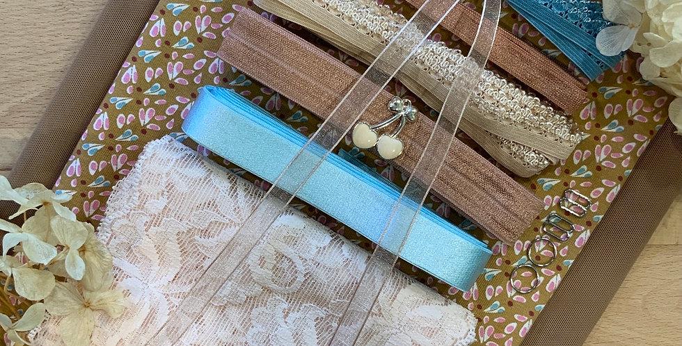 Dew Drops French Cotton Spandex Lingerie Kit...