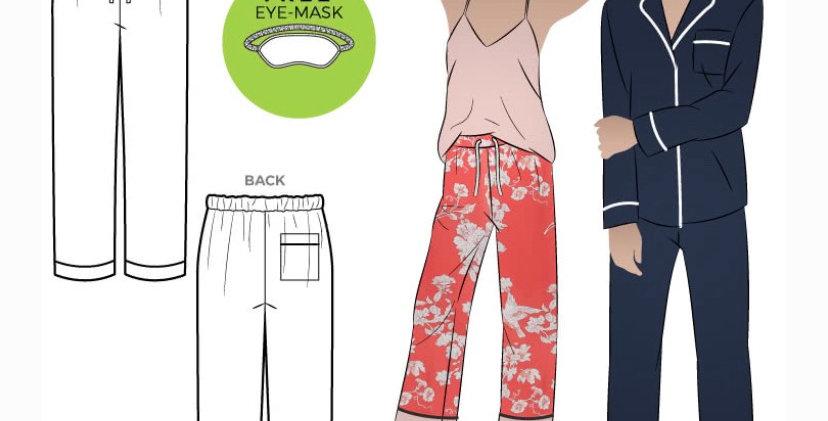 Style arc loungewear pant printed pattern