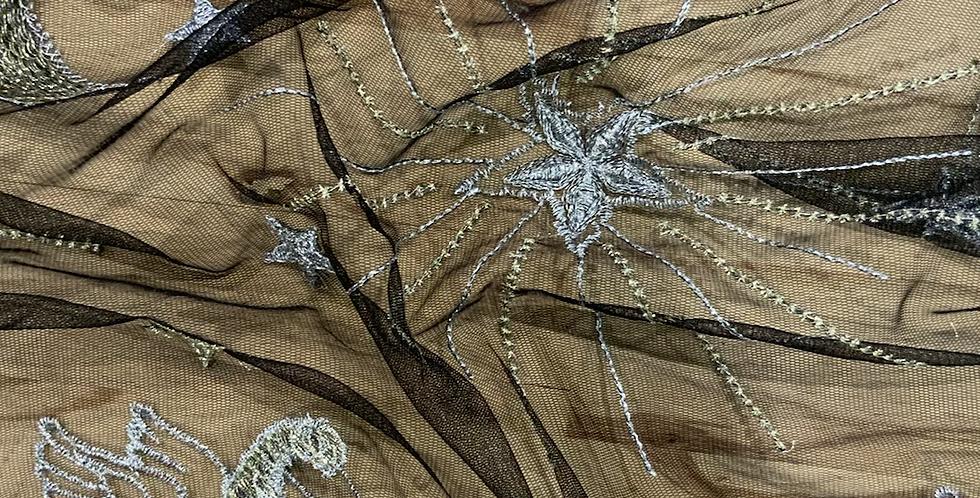 Star Gazer Lurex Embroidered Mesh Small Cut