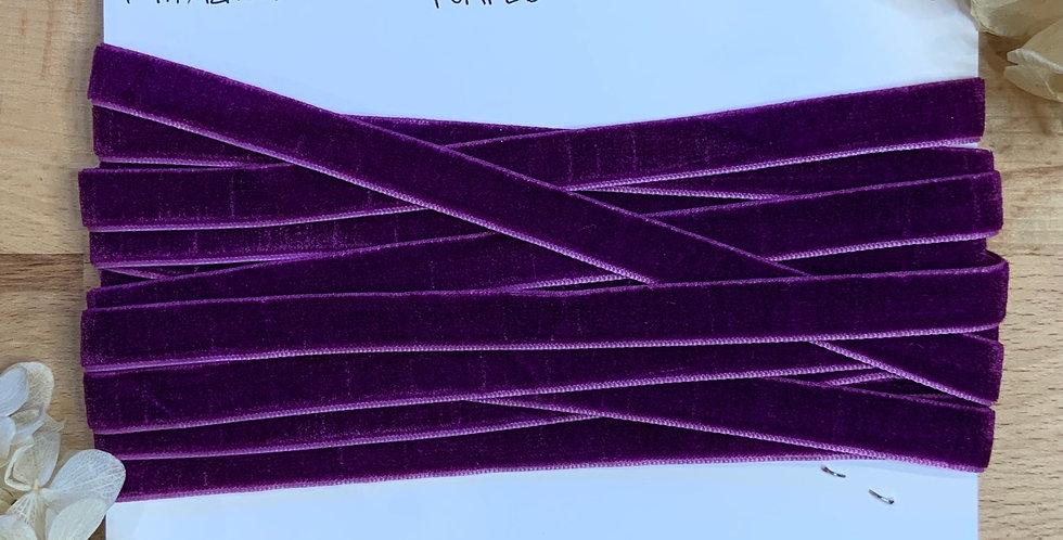 4.7mtrs Purple 12mm Velvet Ribbon