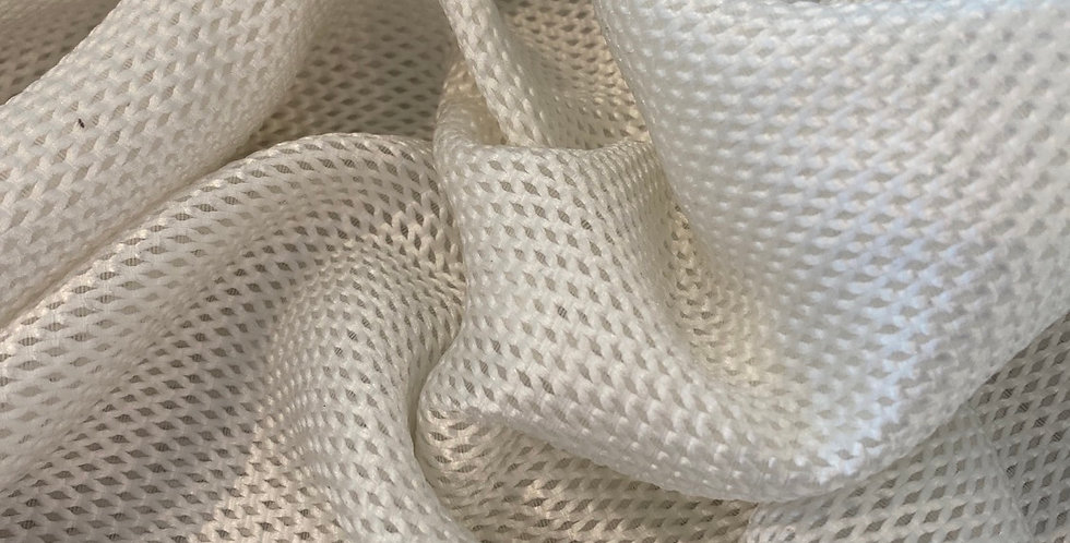 Ivory open weave woven mesh