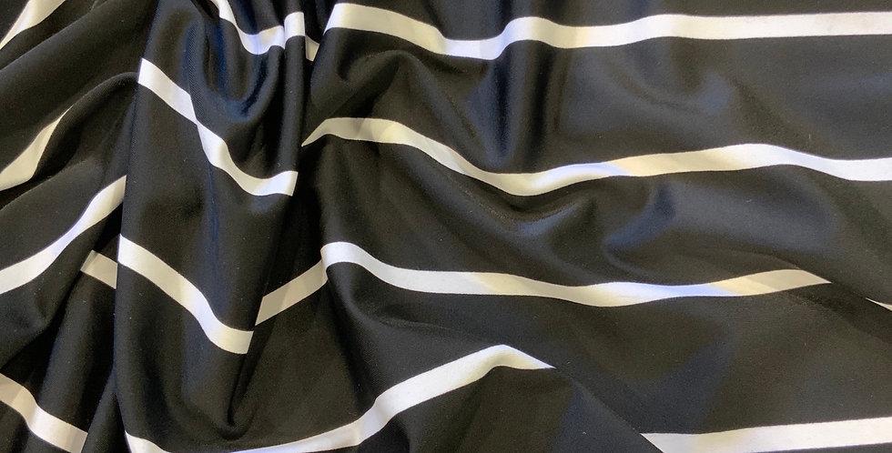 Monochrome Stripes Lycra Remnant