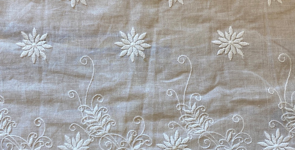 Byron embroidered cotton trim