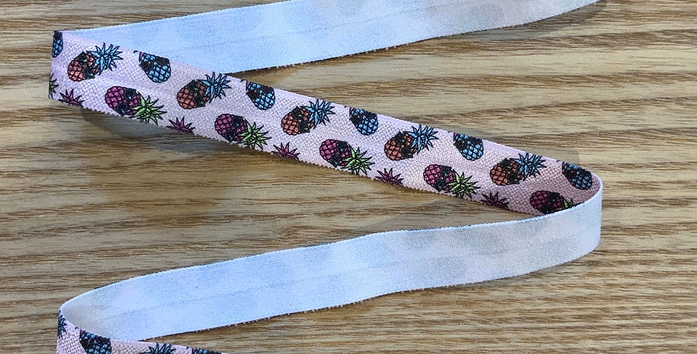 Summer Pineapple Foldover Elastic 2.3mtr Roll...