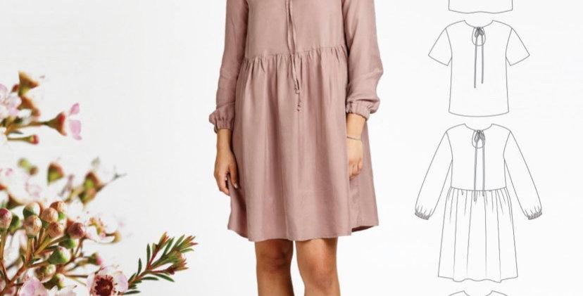 Megan Nielsen sudley dress printed pattern