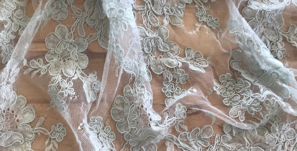 Dusty duck egg lace piece #2