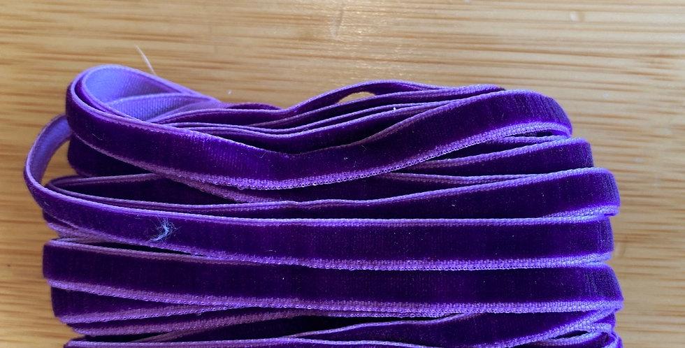 violet 6mm velvet ribbon