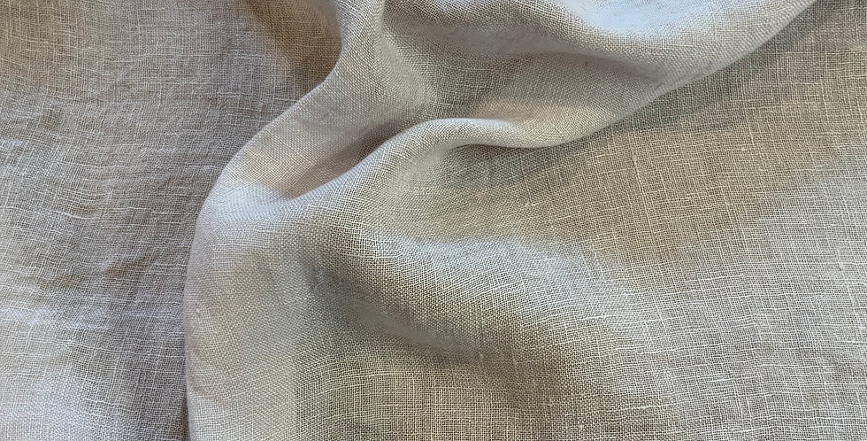 Pale Silver Grey Lightweight  Linen Gauze Remnant