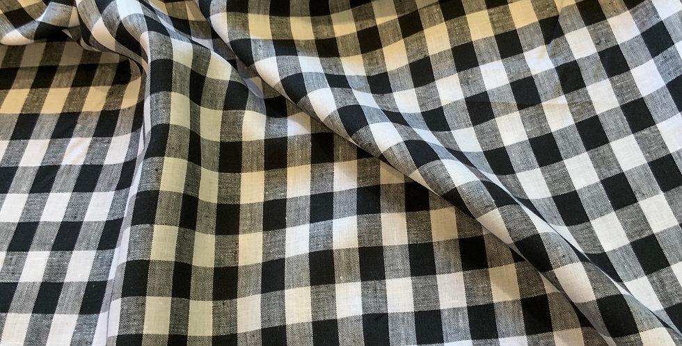 Colette Black Gingham Linen