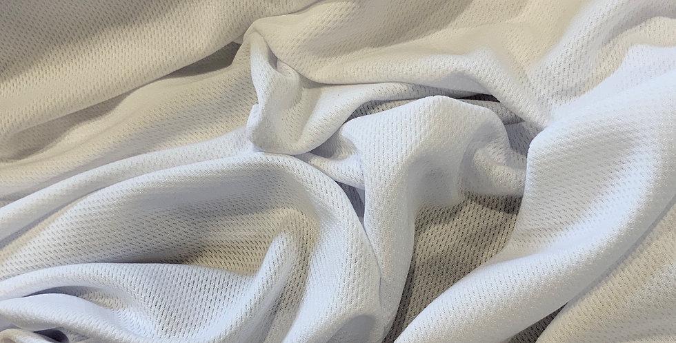 White Polyester Sports Knit...