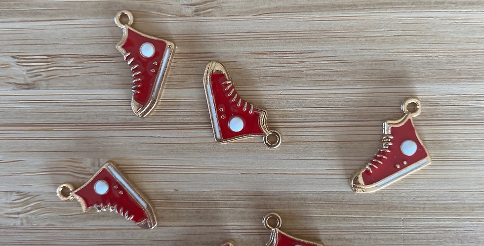 Red high top sneaker charm
