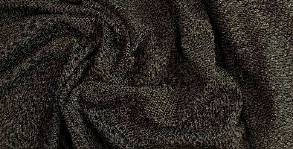 Black Fine Lightweight Jumper Knit Remnant