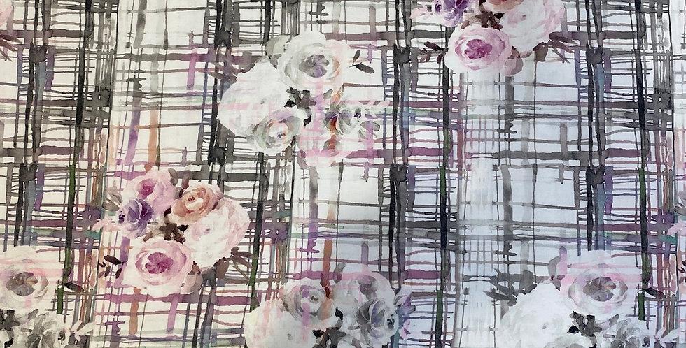 grid garden cotton sateen
