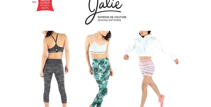 Jalie CLARA High waisted Leggings printed pattern