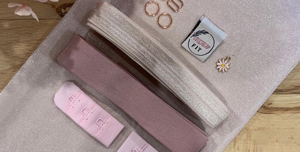 French Rose Mottled Hand Dyed Lily Bralette  Kit