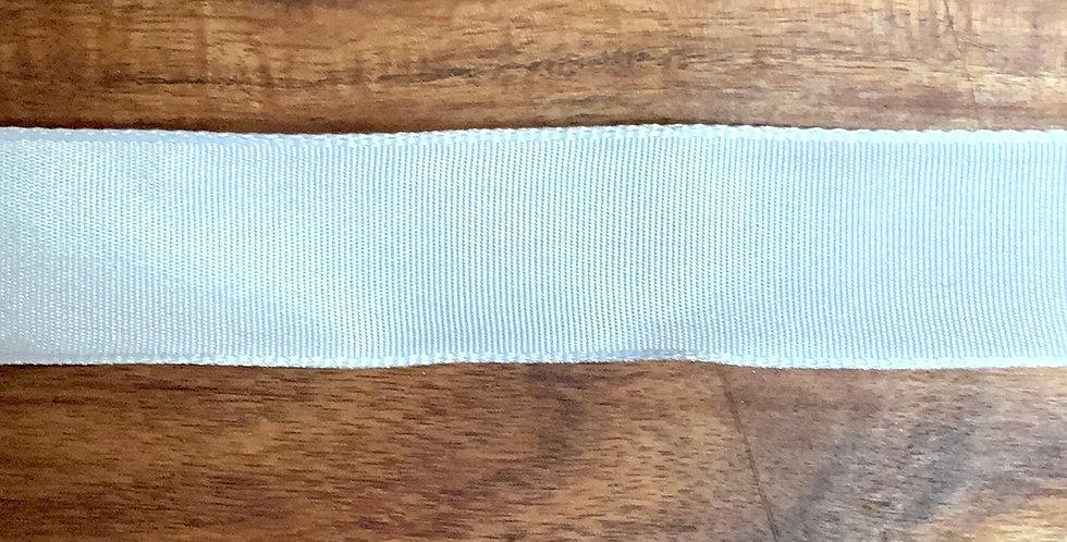 25mm White Wired Taffeta Ribbon...