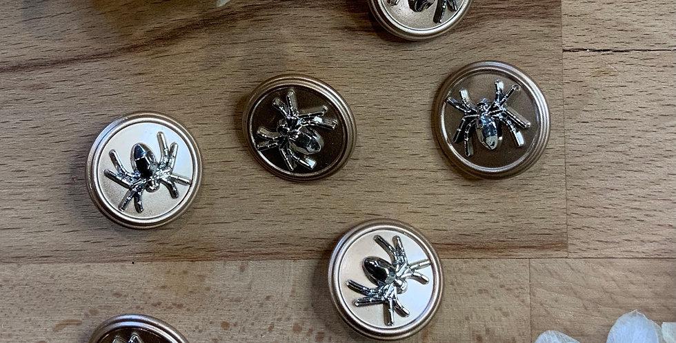 Gold Spider Metal Shank Button