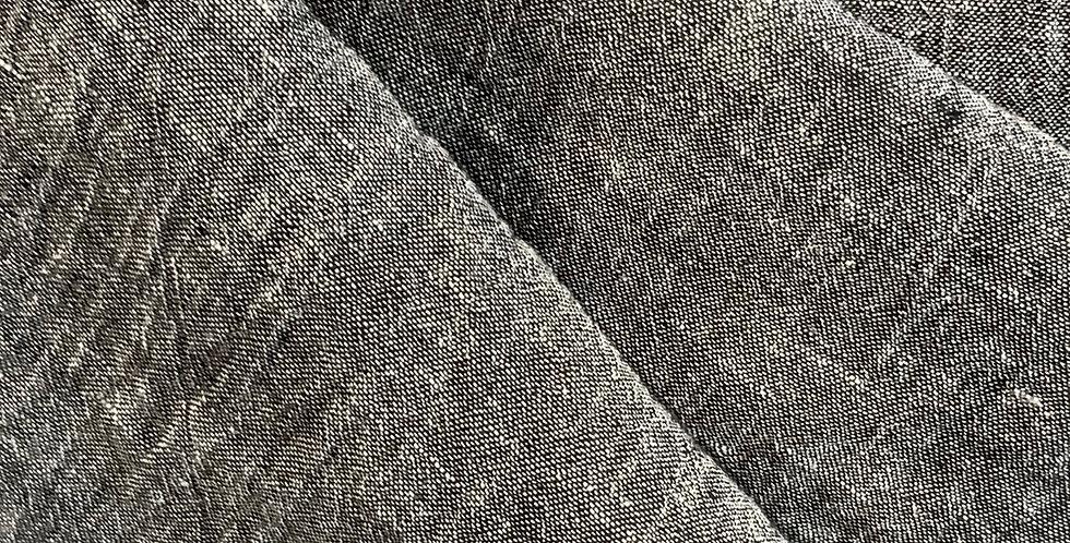 Charcoal Yarn Dyed Crinkle Linen...