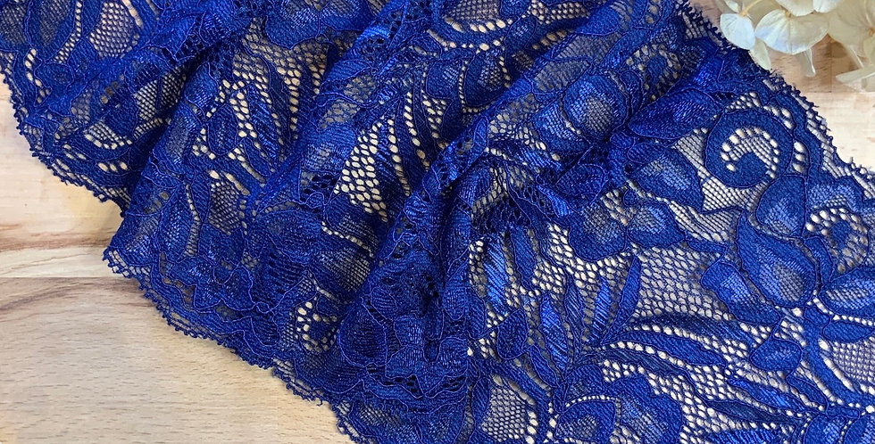 1.8mtrs Navy Blue Stretch Lace