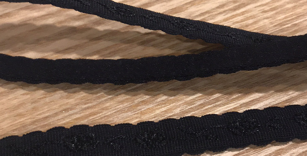 10mm black self pattern strapping