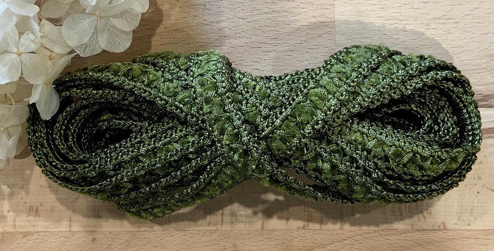 Deep Moss Green Chenille Spanish Braid 4mtr Bundle