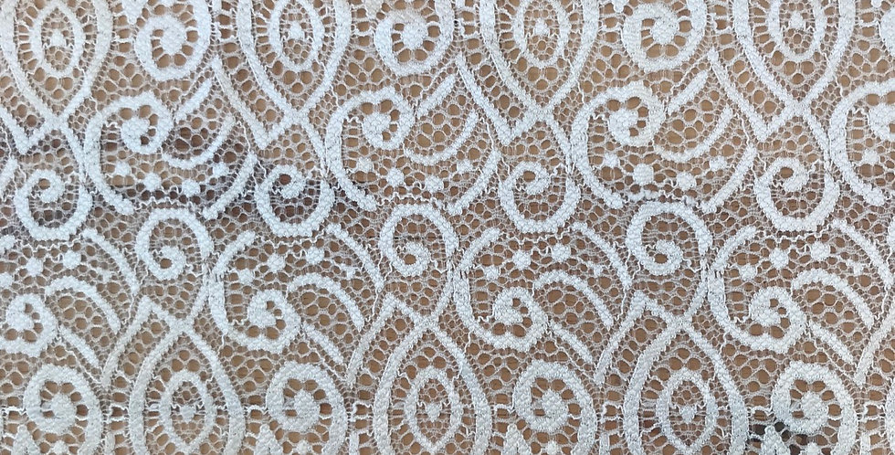 2.8 metres ava stretch lace ivory