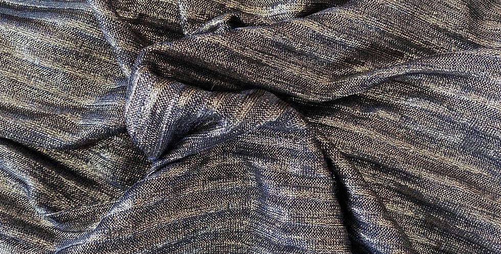 Gold lurex ribbed knit remnant