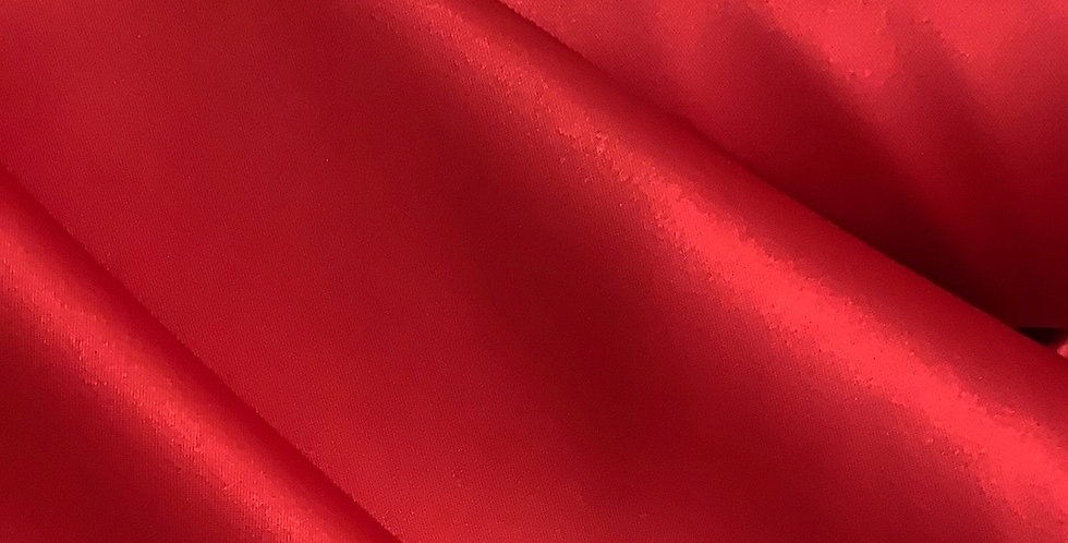 Cherry Red Heavy Polyester Matte Stretch Satin Remnant ....