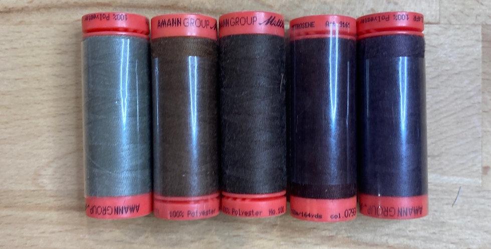 Metrosene Mixed Browns Thread Pack #9