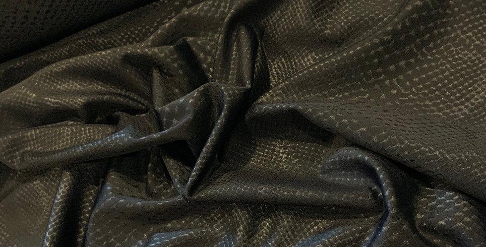 Black Reptile Print Lycra...
