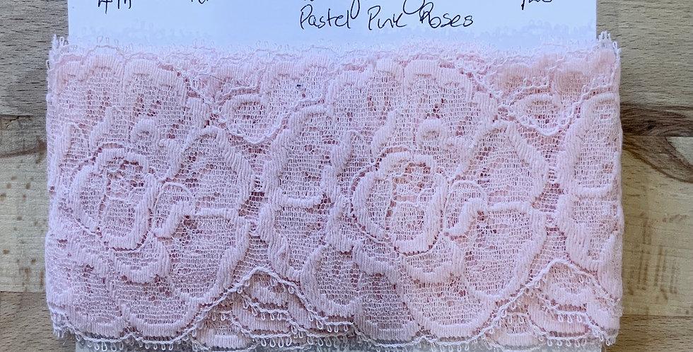 Pastel Pink English Vintage Lace Remnant