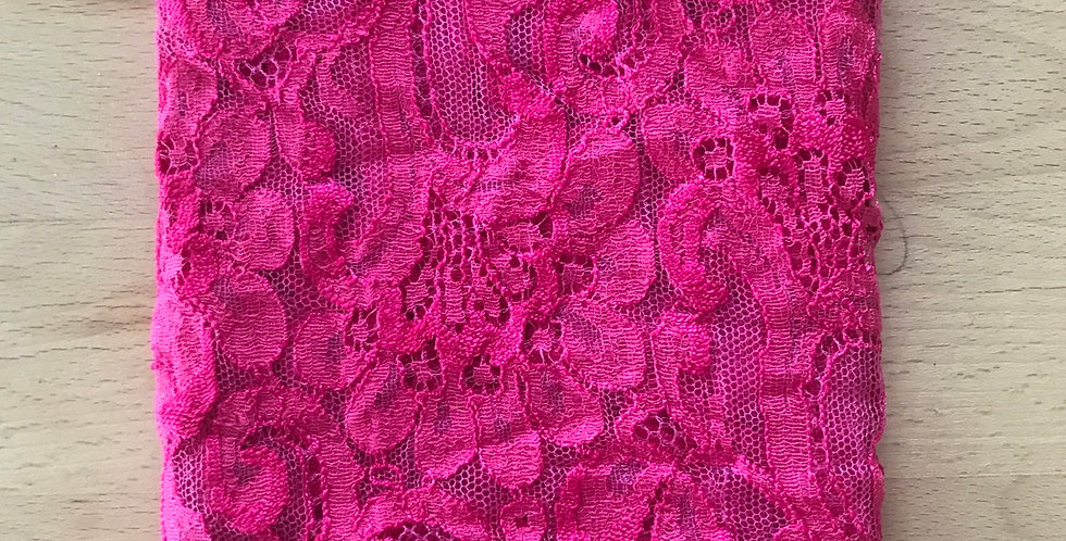 Pink designer lace remnant