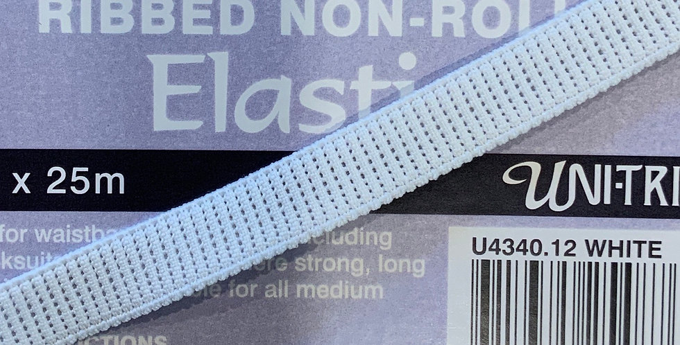 12mm  Ribbed Non Roll Elastic...