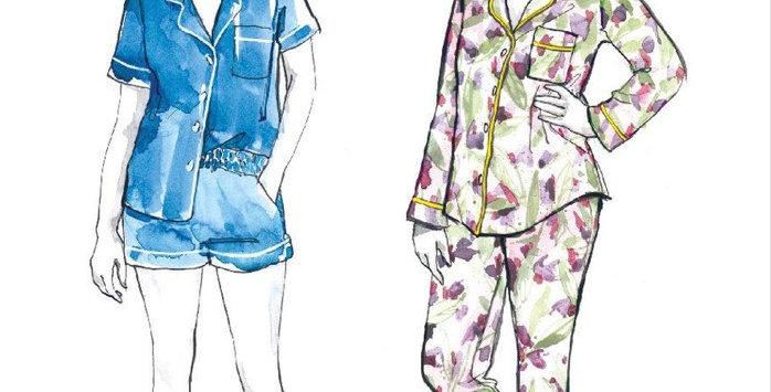 Closet core Carolyn pyjamas printed pattern