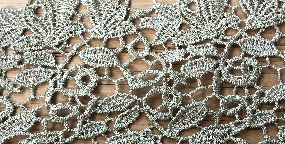 Holly Antique Gold Metallic Lace Trim