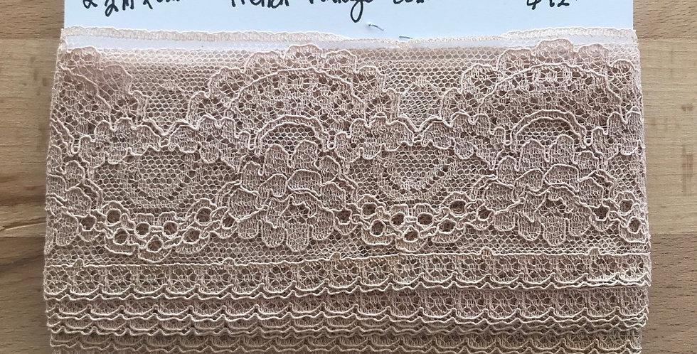 Vintage French cotton lace remnant