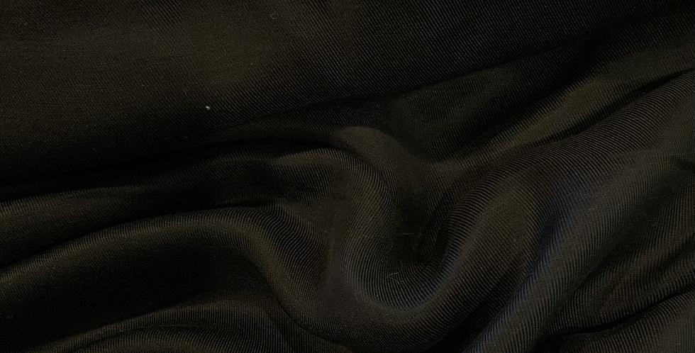 Black Viscose Linen Twill Suiting...